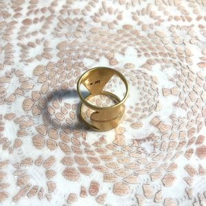 Madewell Gold Plated Ban Ring Size 6.5